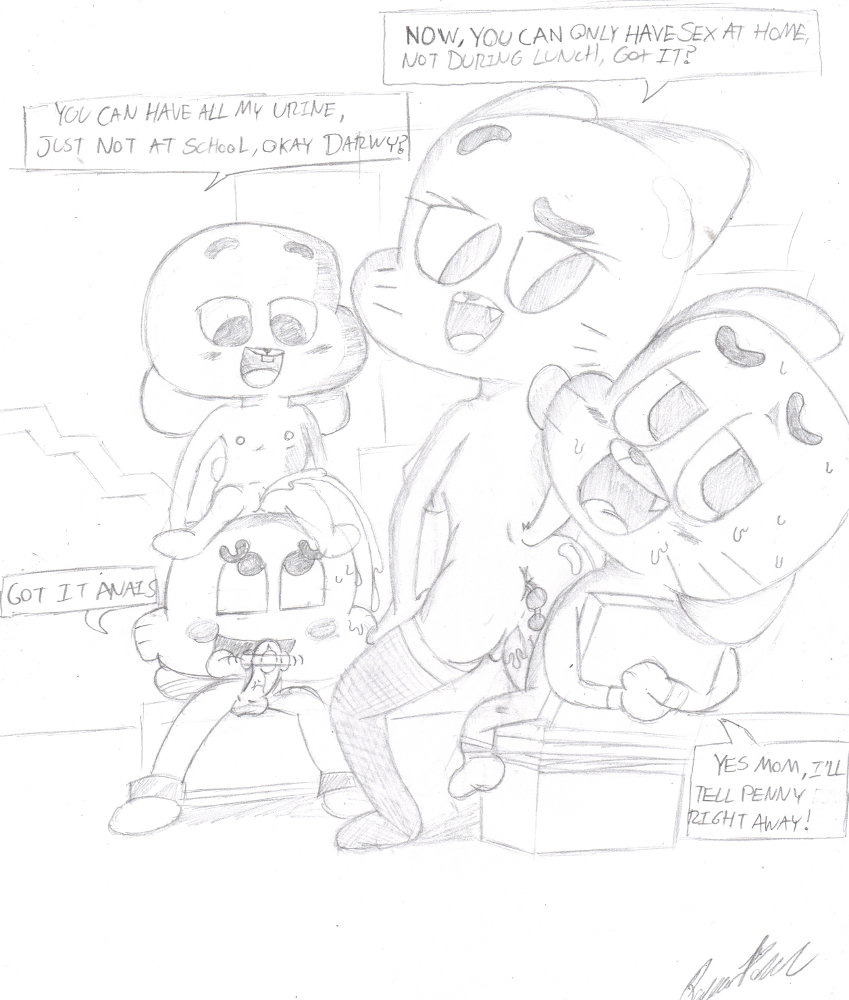 world amazing of porn gumbal What if adventure time was a3d anime game