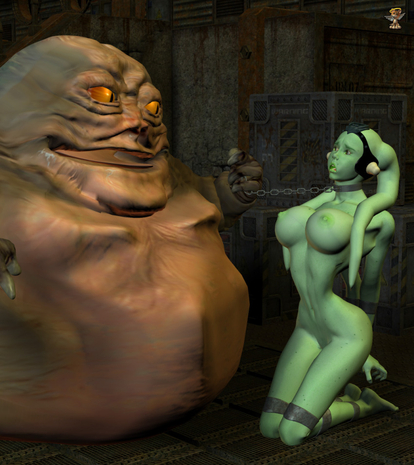 choking the hutt jabba gif Sonic the werehog and chip